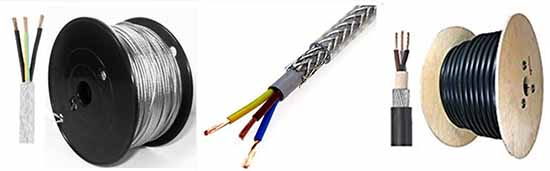 long service life and low price 3 core SY cable