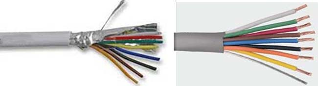 cheap 8 core screened cable, 8 core flexible cable factory